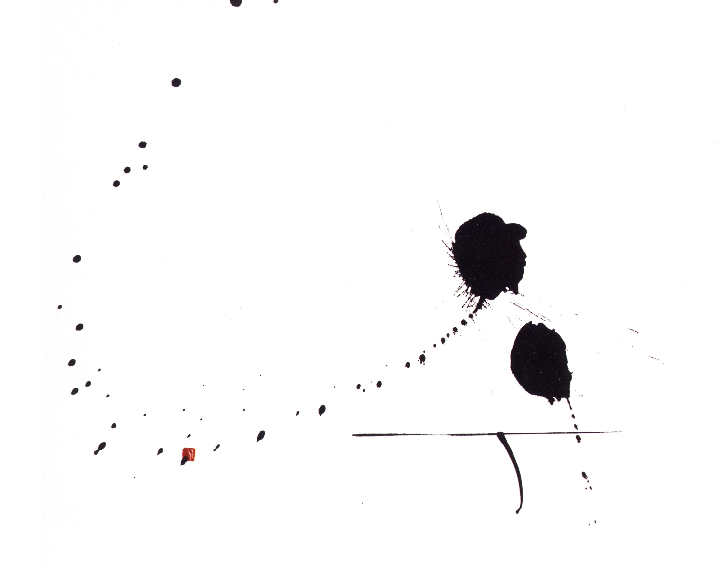 Peace I   Sumi on Paper, 10.1'' x 16.2'', 2003