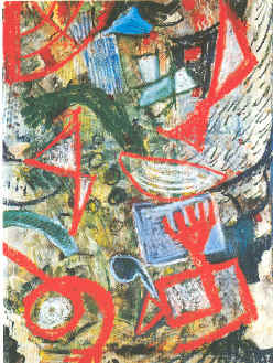 "Wachula    Mixed Media on Paper, 2000, 33 1/2"" x 24 1/2"""
