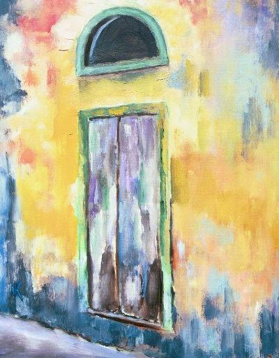 """La Porta. Radda In Chianti    20"""" x 24"""". Oil on Canvas, 2004"""