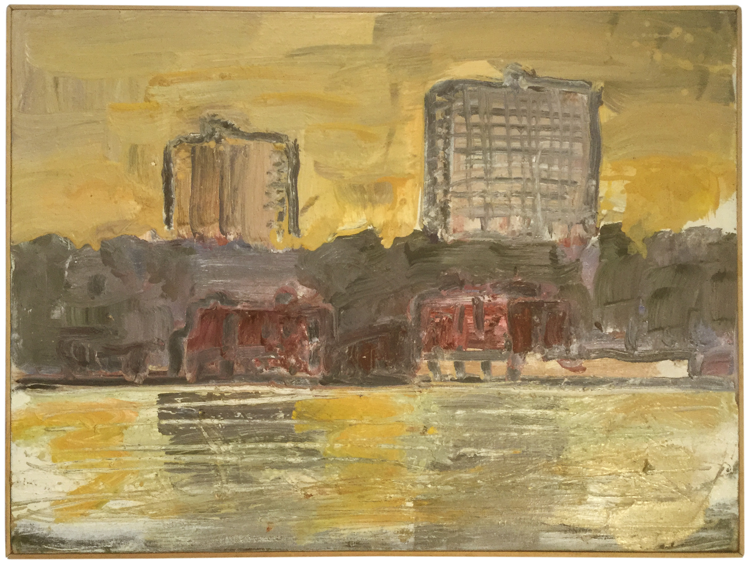 """Edgewater   by Jim St Clair  Oil on Canvas,  23"""" x 31"""", 2005"""