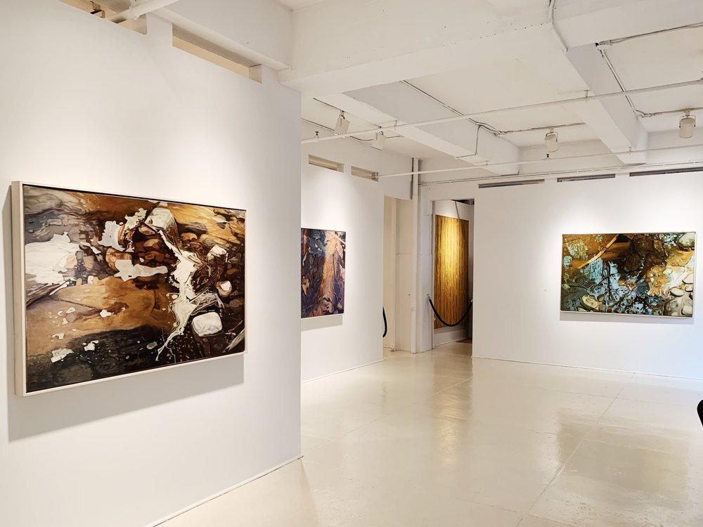 Installation view of Ralph Wickiser show