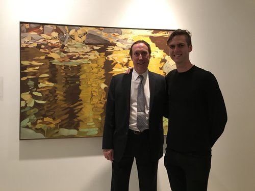 Walter Wickiser with Carter Cleveland, CEO of Artsy.