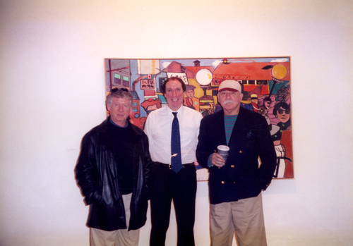 Ted Koppel (Nightline, ABC News), Walter Wickiser and Richard Merkin.