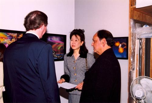 May Chao, Cheech Marin, Walter Wickiser.