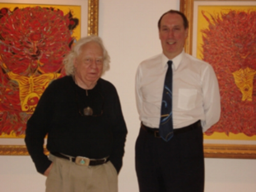 Left: Edward Lucie Smith (Art historian & Writer) Right: Walter Wickiser