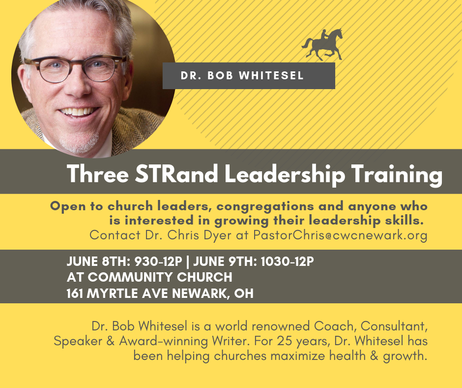 Make your team better by discovering your Strategic Leaders, Tactical Leaders and Relational Leaders . Open to all ministry team leaders, congregation members and anyone who is intersted in growing in their leadership skills. To sign up contact Dr. Chris Dyer at  PastorChris@cwcnewark.org  TODAY!