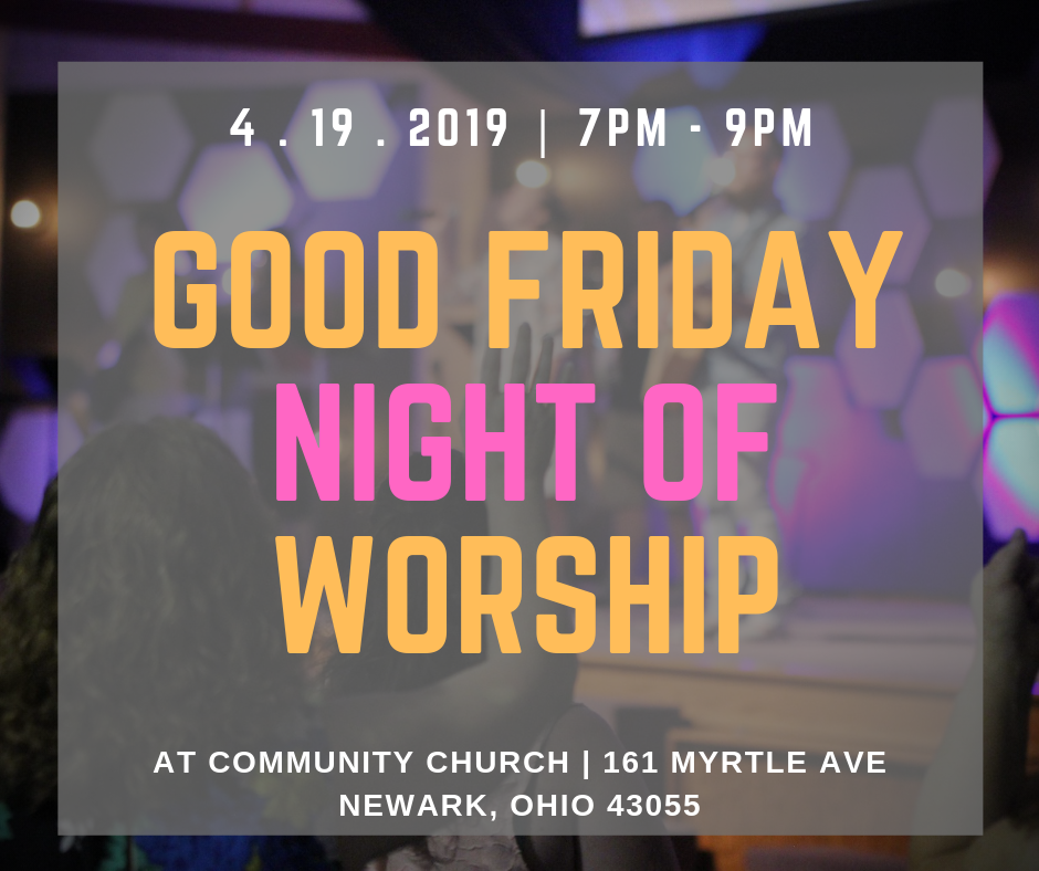 Come join us for a night of preparation, as we enter into Easter weekend.  We will worship the Crucified Son through song, prayer and communion.  Friday is here…but Sunday is coming!