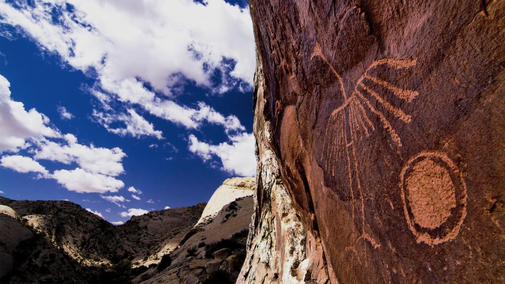 Petroglyph graces the Comb Ridge. Photographer: Josh Ewing