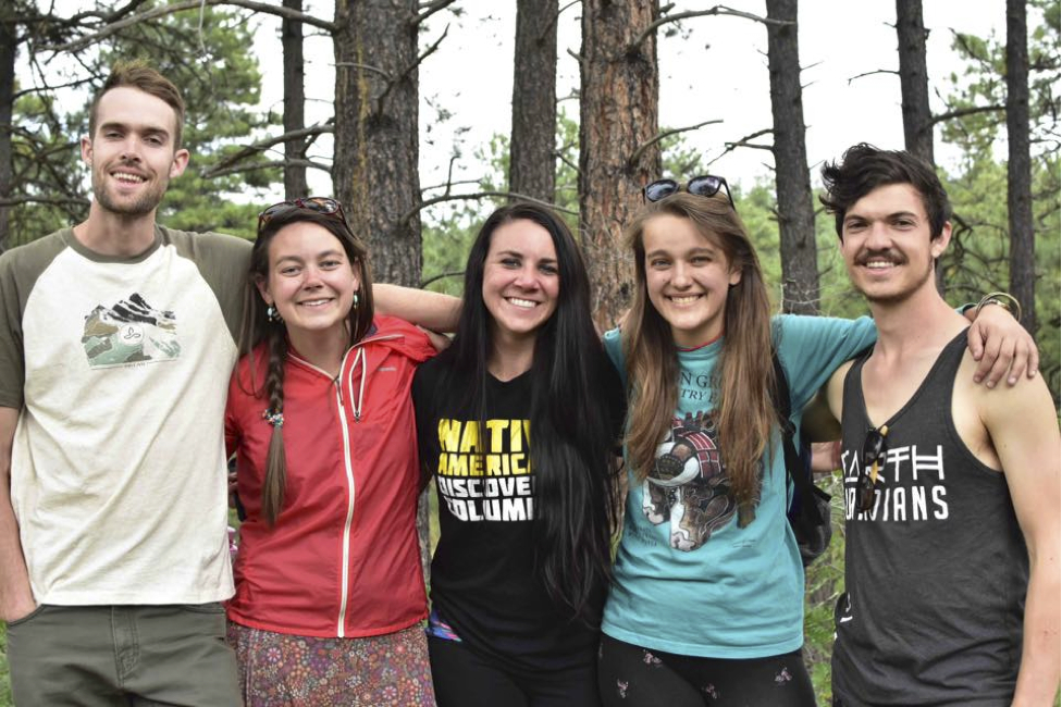 Five SustainUS Delegation who participated in the 2016 Uplift Climate Conference including (right to left) Remy Franklin, myself, an organizer of Uplift, Kayla DeVault, Morgan Curtis, and Daniel Jubelirer.