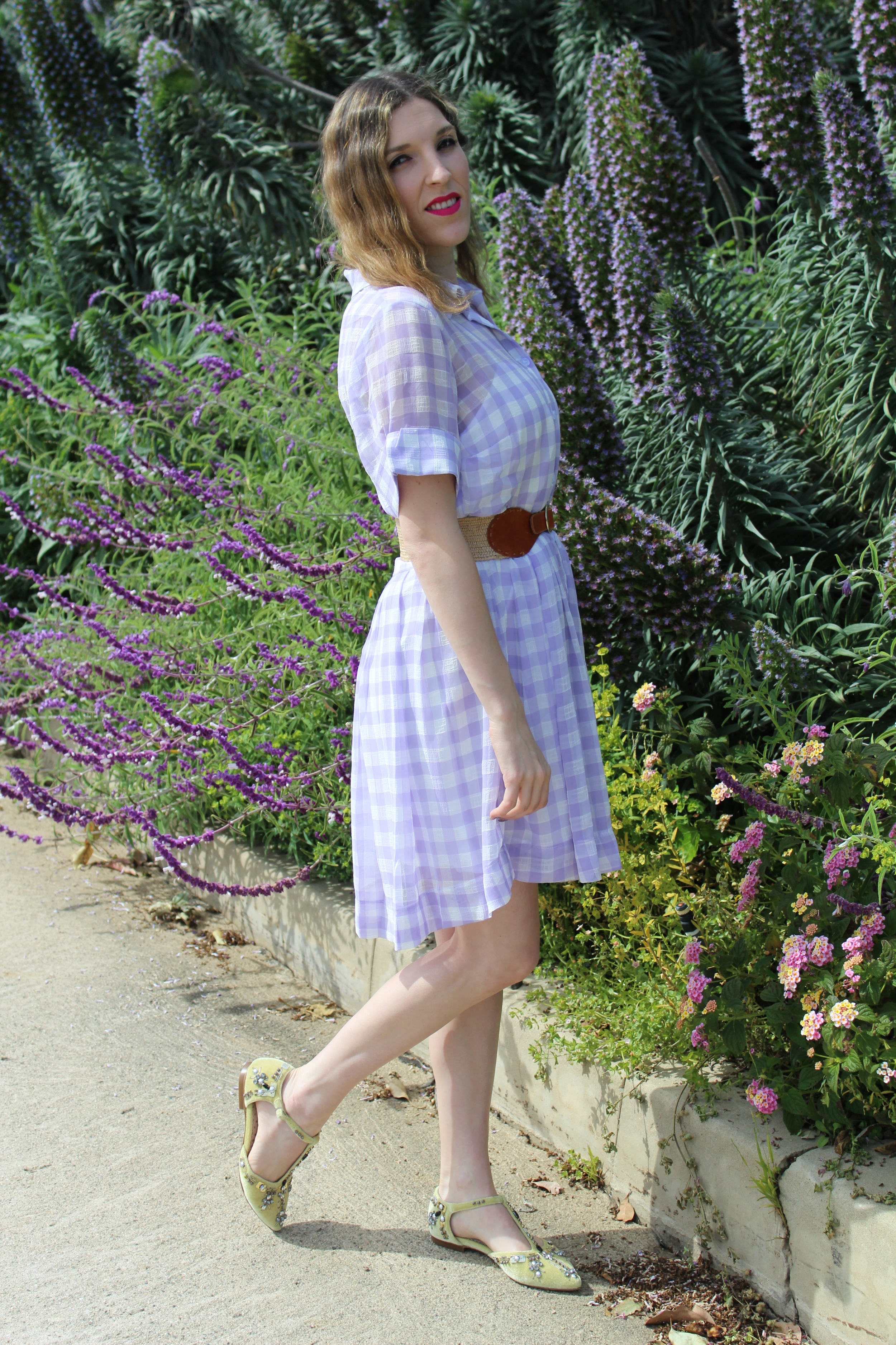 Sorry for the squint face, it was really sunny out that day!  Keep following for more new looks!!! Ciao!  Dress:  Sister Jane   Belt: Banana Republic (old) similar  here   Flats:  Boden USA