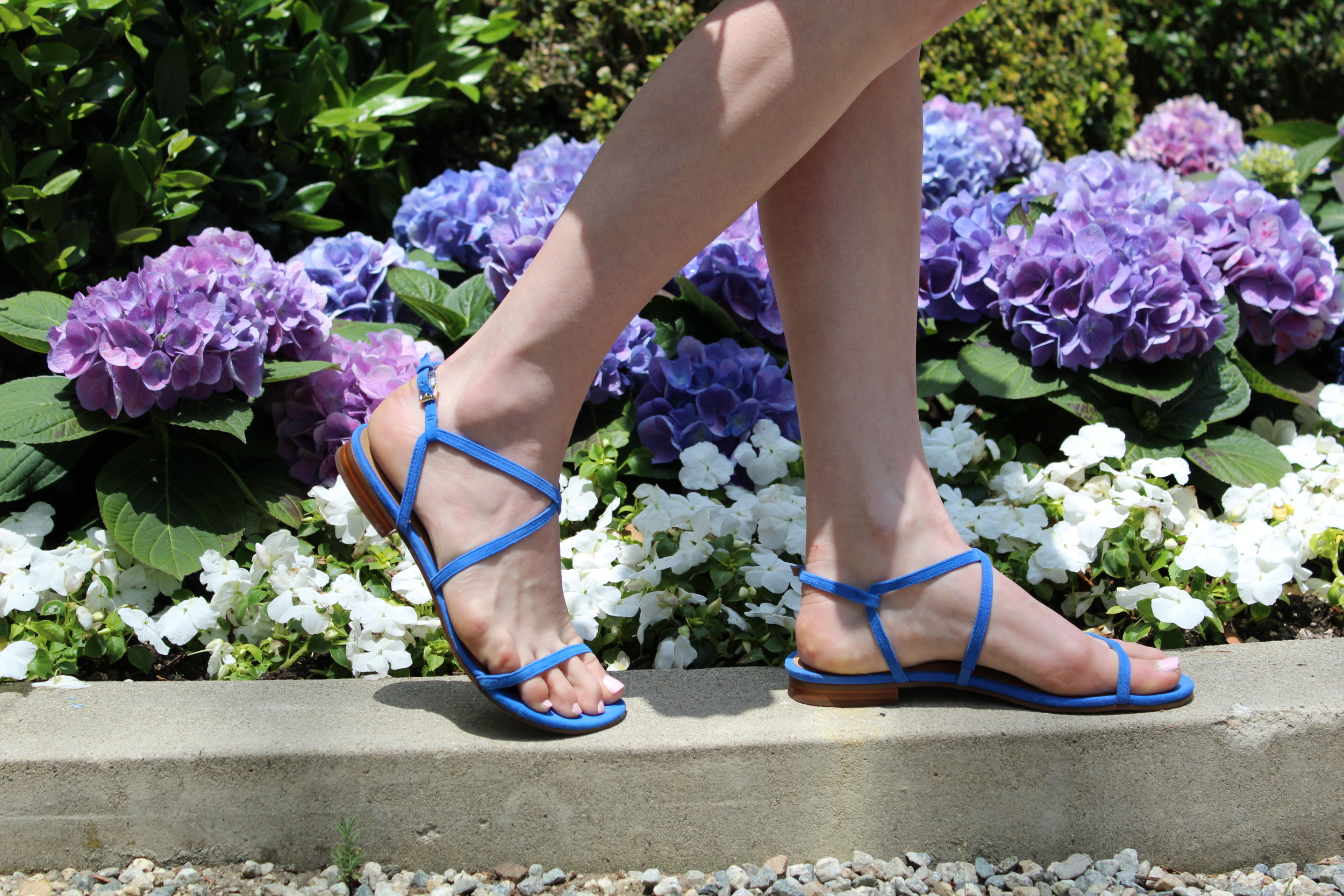 These are definitely my new go to sandals. They are super cute and comfy but more than anything it is the color that gets me. I also like that they are strappy which makes them feel a little more dressy than just your basic sandal.