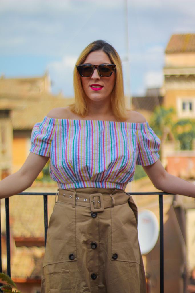 Top:   F21   // Skirt:   F21   // Shoes: similar   here   // Bag: similar   here   // Sunnies: similar   here