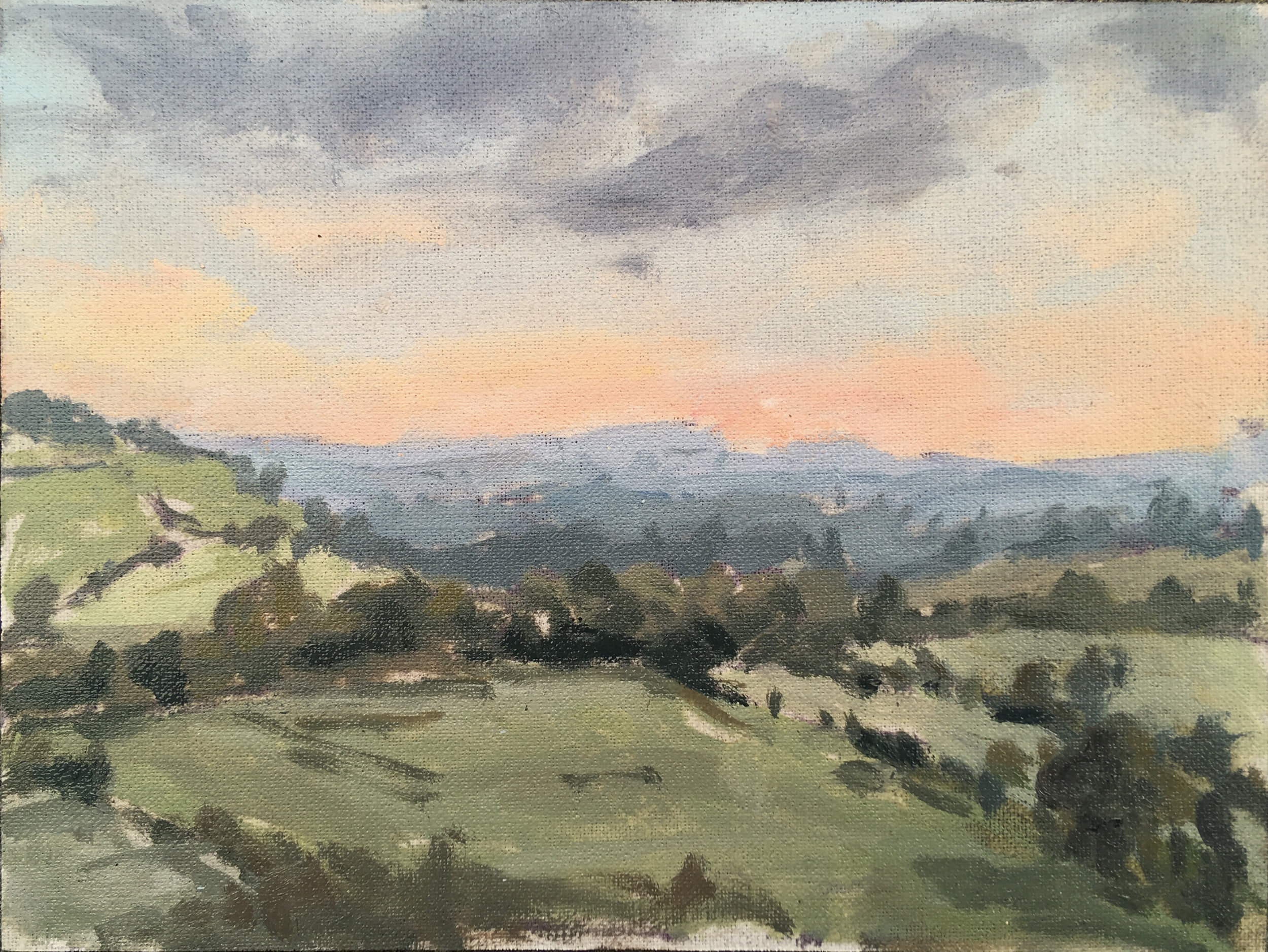 'Autumn View from Hare Pie Hill' 18 x 24 cm oil on linen