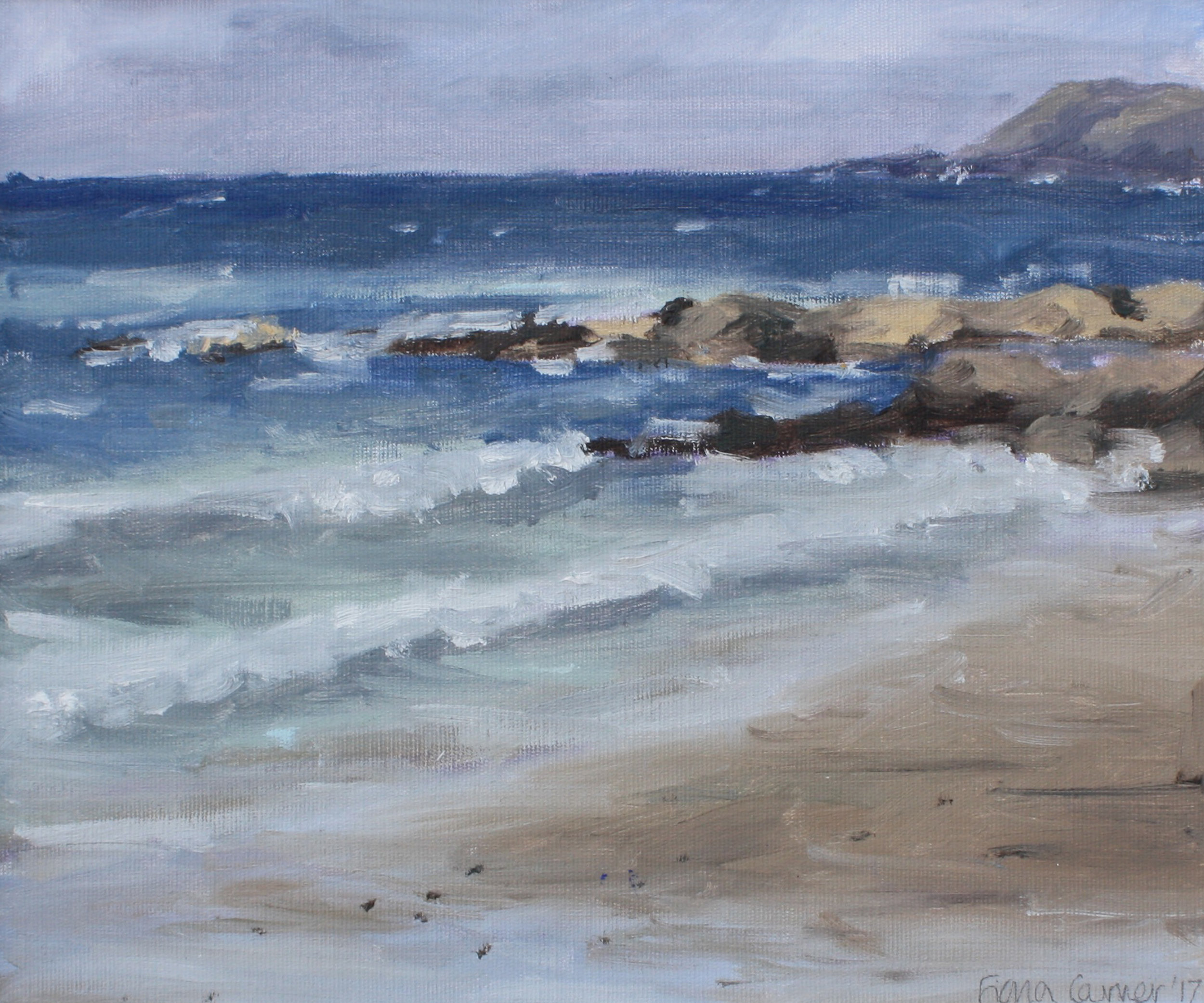 'Incoming Tide'  oil on canvas board