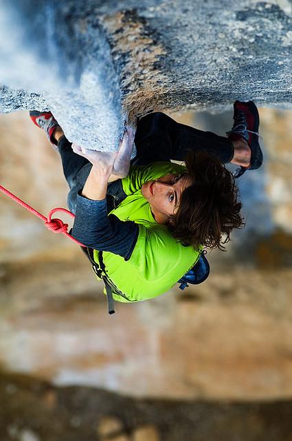 Dave Graham, Humildes Pacasa, 8b+ , Oliana (Lleida). Photo: Keith Ladzinski. Source: flickr.com