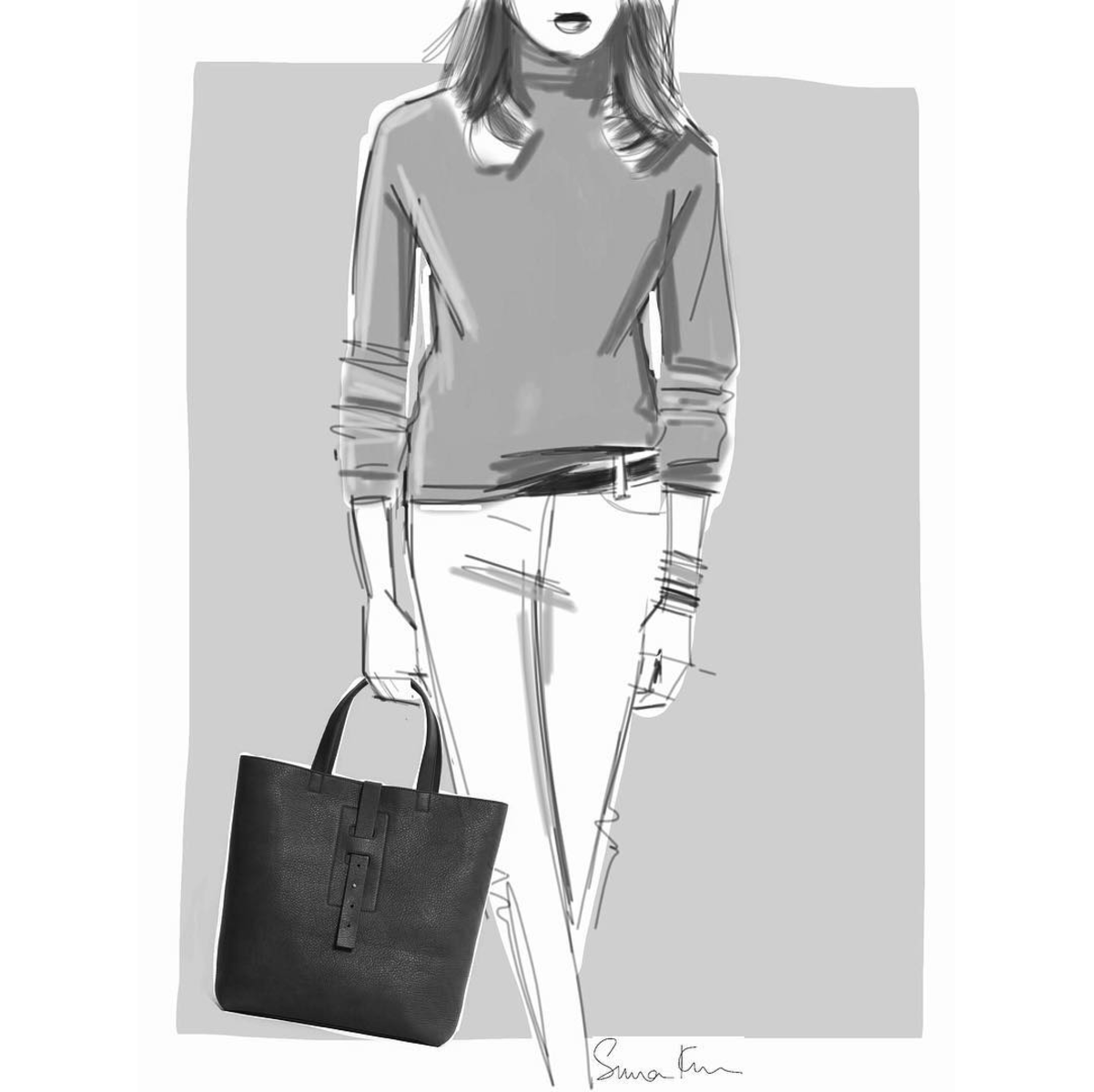 New England Tote Sketch