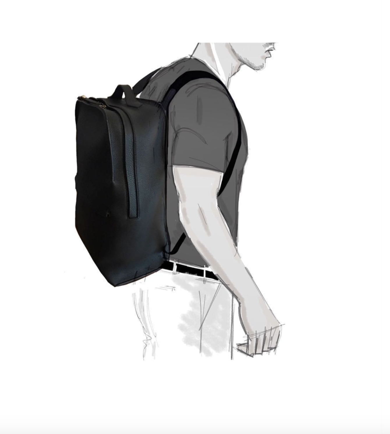 Grey New England Backpack