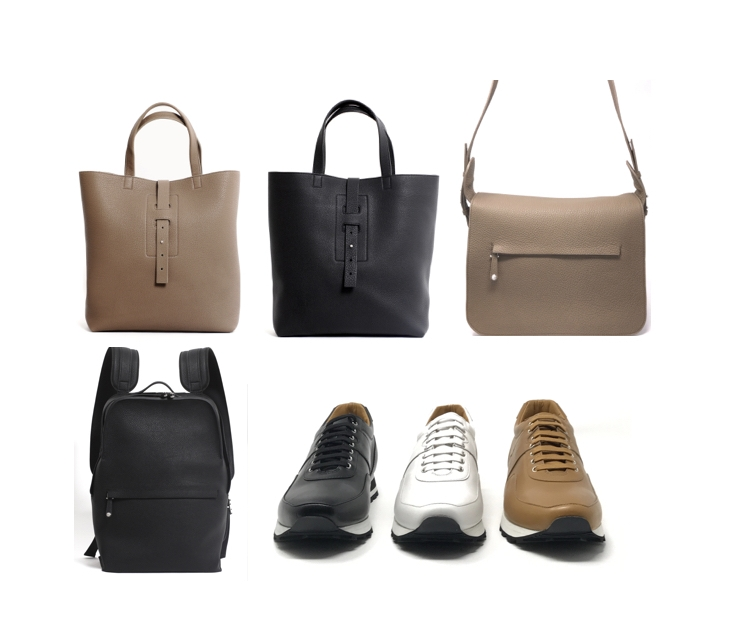grey new york grey new england runner shoe, messenger bag and tote