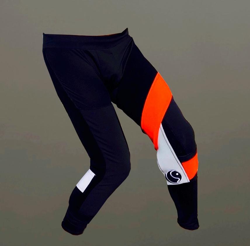 Left Knee: Custom Valgus/ Medial Support with VMO Mimick  Right Leg: Upper Calf Strap