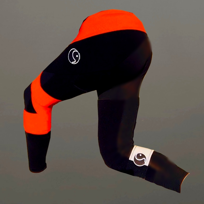 Lumbosacral: Lordosis Limitation with BL Hip External Rotator Strap  Left Knee: External Rotation, Oblique Popliteal Ligament Mimick, with Distal Hamstring Tendon Compression  Red Leg: Upper Calf Strap