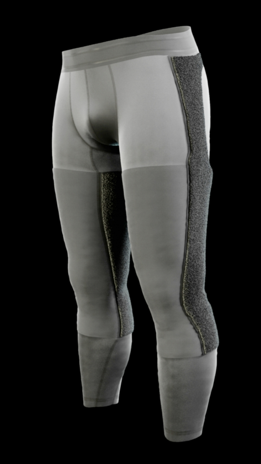 Baselayer Compression Tights with Platform Design that allows you to stick any application, either functional and supportive or aesthetic, on top.