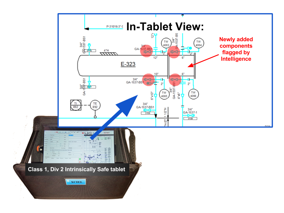 Using Ei's Intelligence AutoCAD plugin, along with searchable data-driven P&IDs loaded in an Ei tablet, field engineers were able to quickly field-verify any suspect changes.