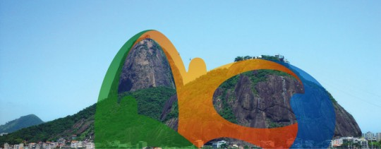 The logo overlaid on an image of the Sugarloaf Mountain