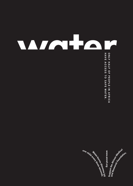 Another example of contrasting type. Here it has a cool effect on it so that from afar, it looks like droplets of water.