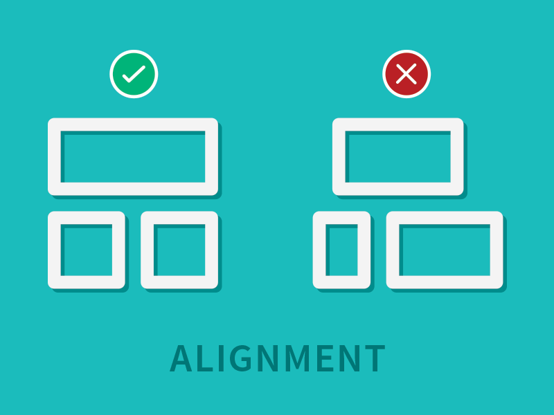 Design Principle: Alignment by Melanie Taube