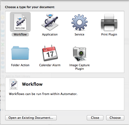 Automator can export into standalone apps, or actions that operate within specific folders.