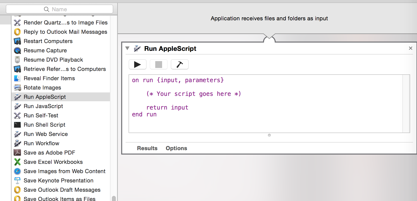 You can run AppleScript inside of Automator too, so don't scoff too much...