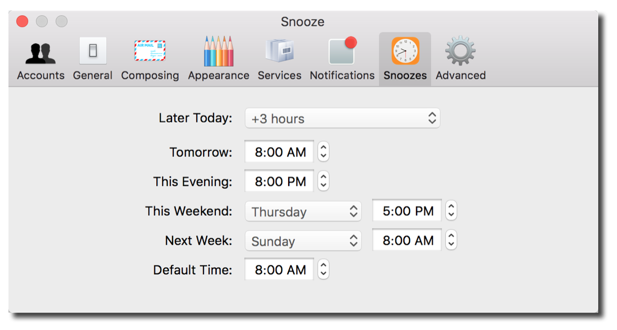 You can even customize your snooze times!