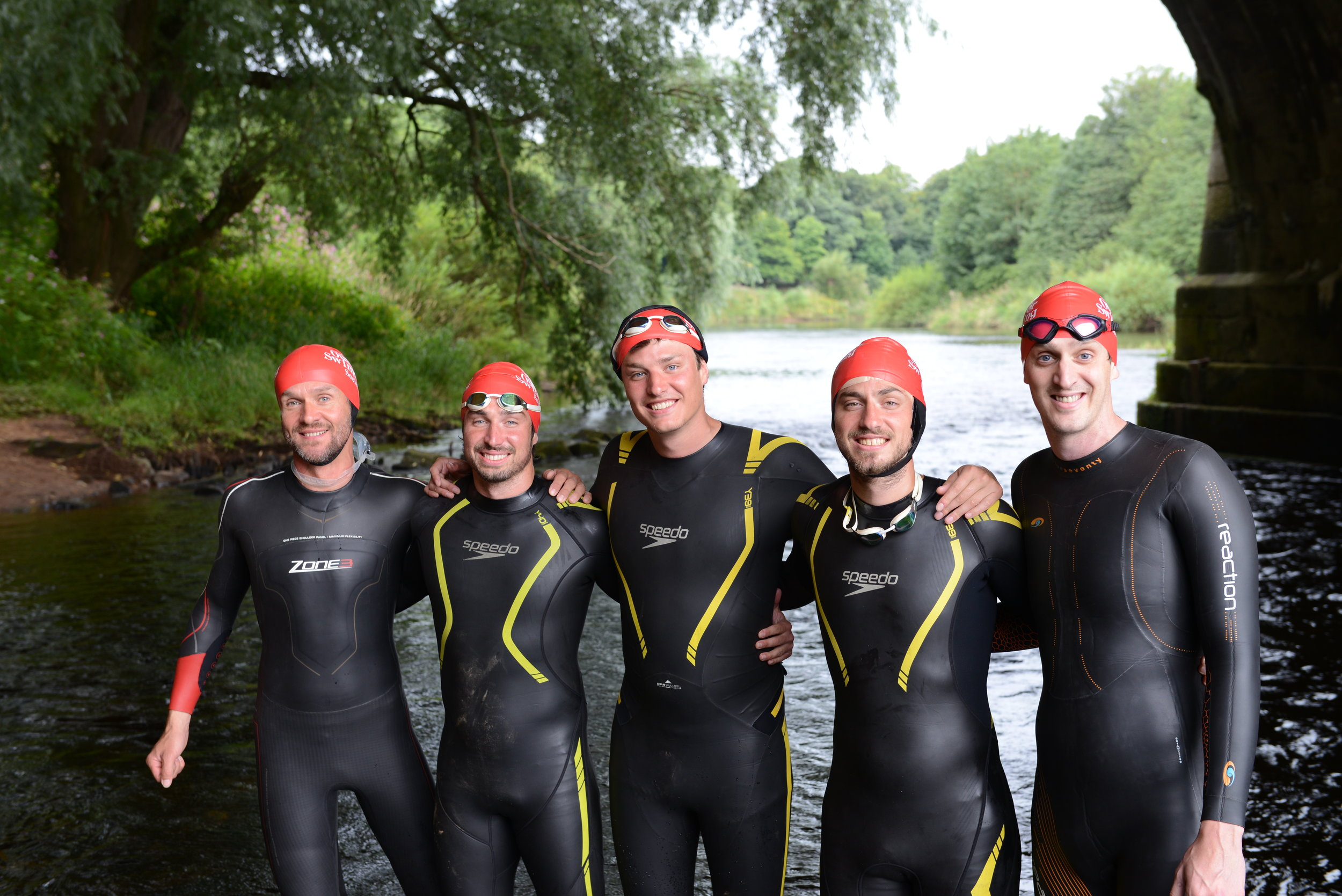Mike (far left) and Mark (far right) Join Swim The Eden  | Photo:  James Silson