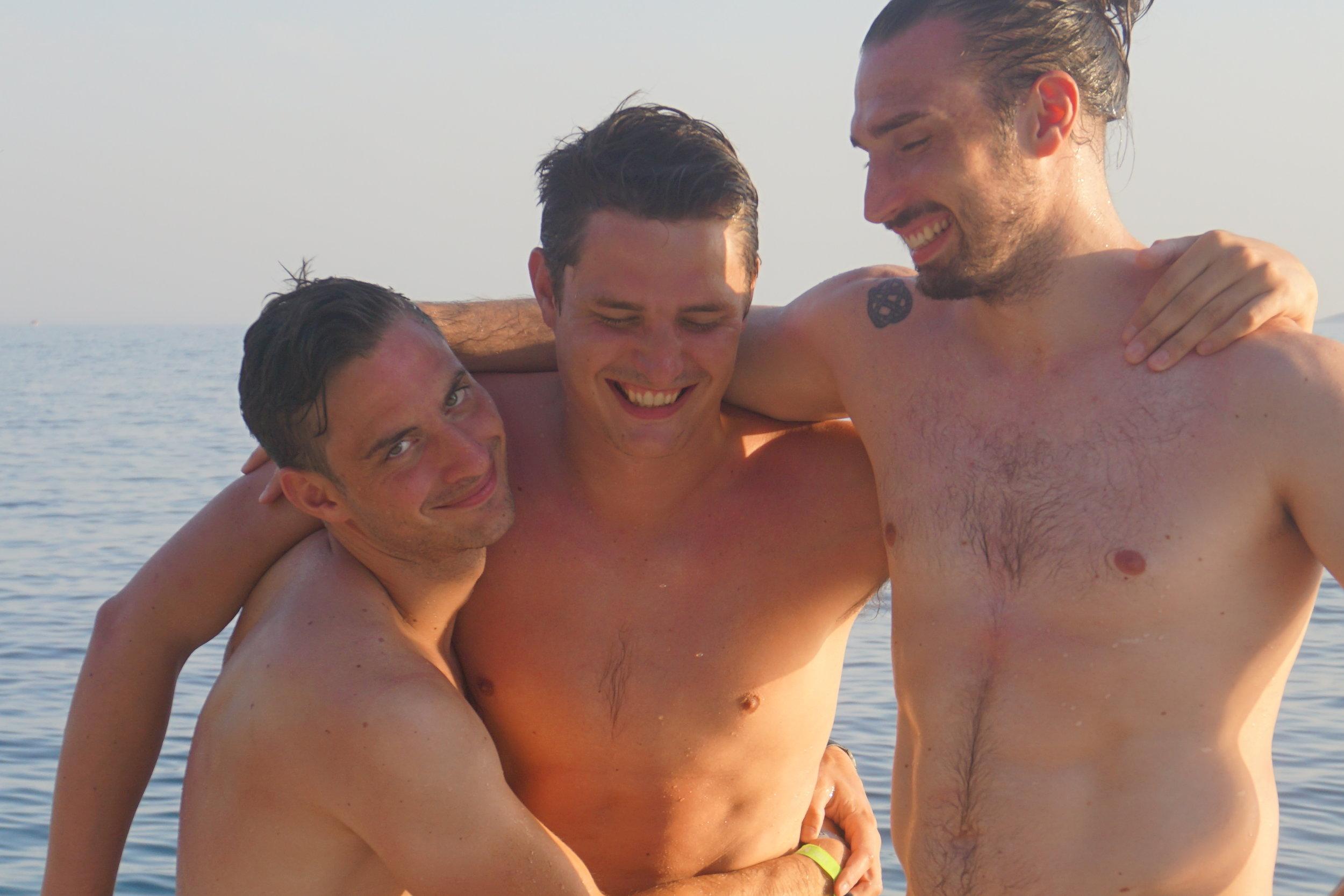 Enjoying our swimming…