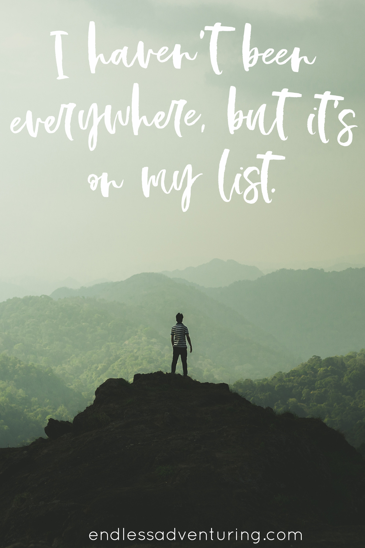 Adventure Quote - I Haven't Been Everywhere, but It's on My List.