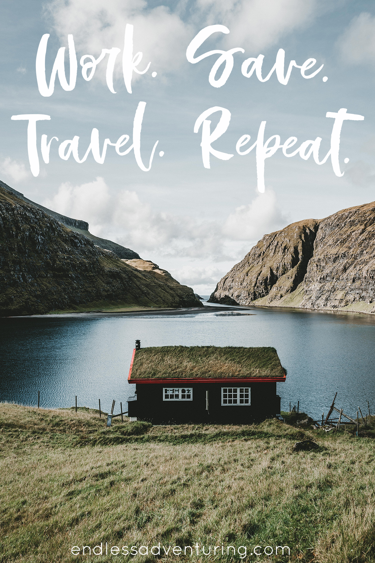 Adventure Quote - Work, Save, Travel, Repeat