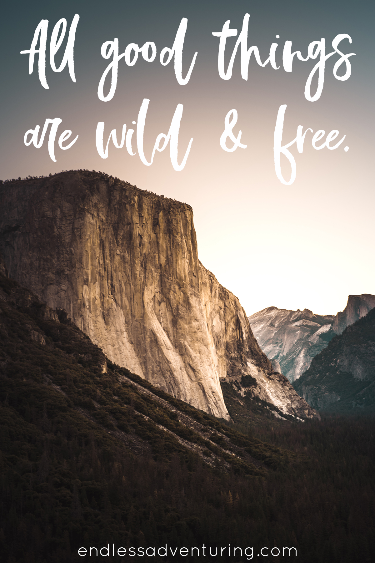 Adventure Quote - All Good Things Are Wild & Free
