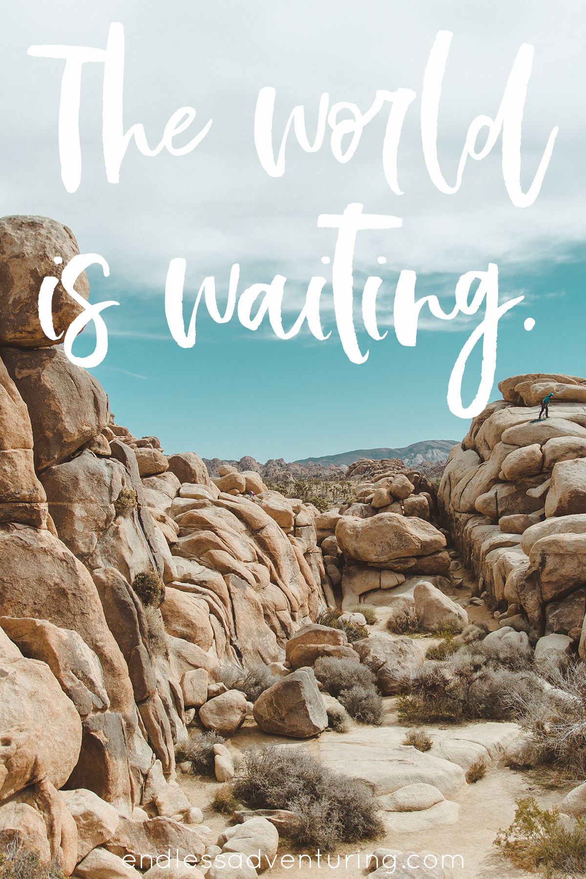 Adventure Quote - The World Is Waiting