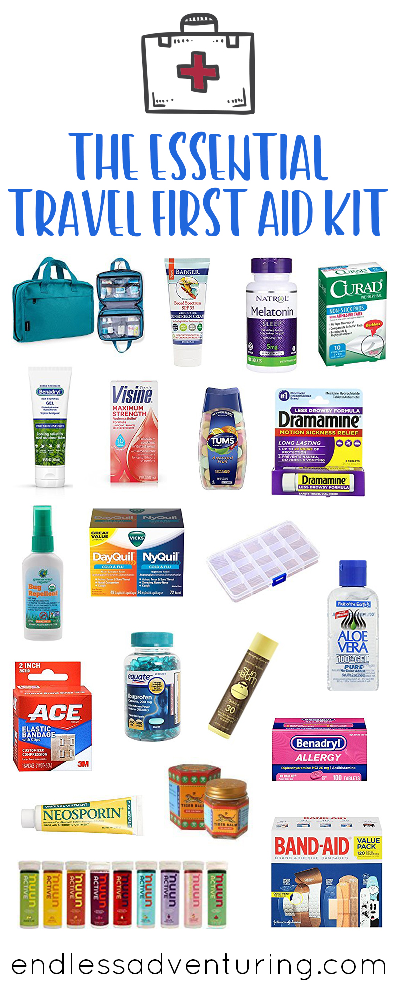 The Essential Travel First Aid Kit
