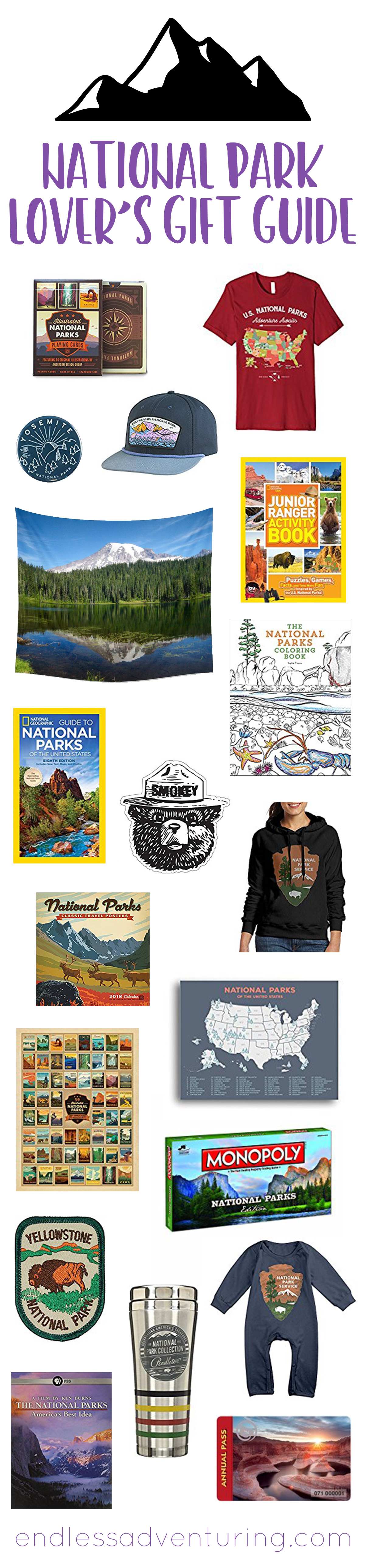 National Park Lovers' Gift Guide - American National Parks, Outdoor Recreation, Outdoor Travel, Outdoor Adventure, US Travel, National Parks, Gift Ideas, Present Ideas, Nature Lover, Birthday Gift, Birthday Presents, Holiday Gifts, Holiday Presents
