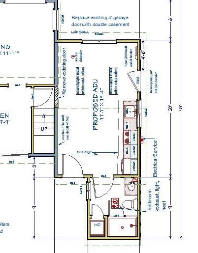 260 sqft garage conversion ADU