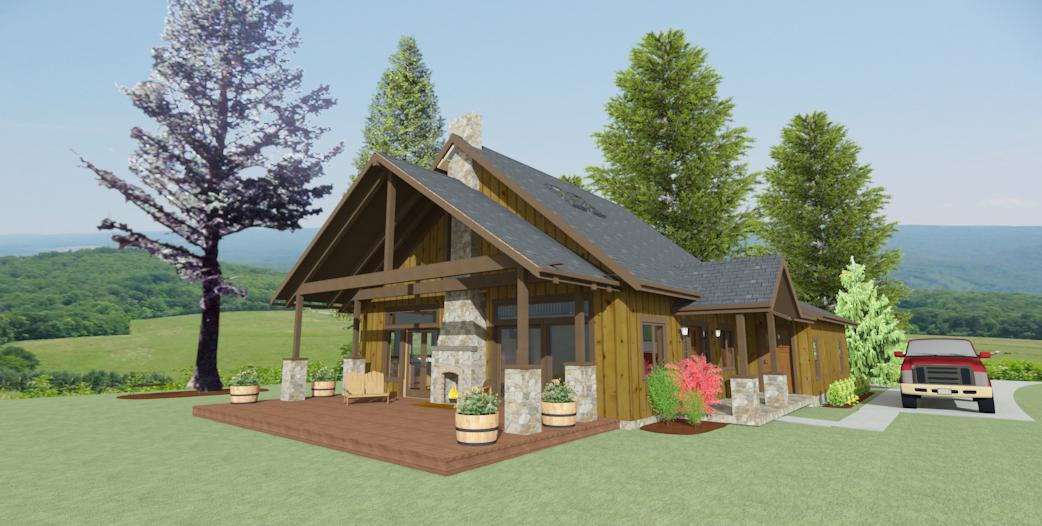 900 SQFT Country House