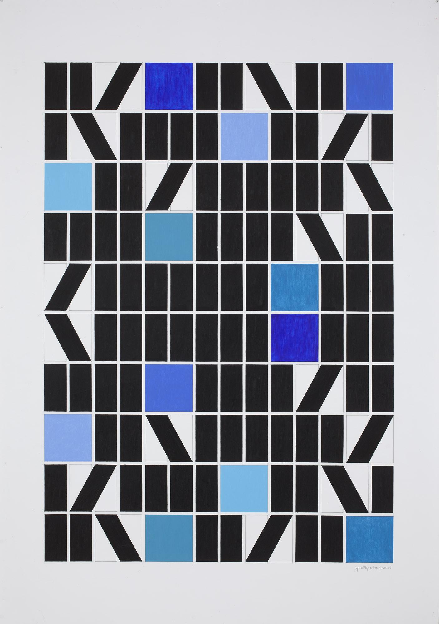100x70 cm Blyant, oljepastell, gouache 2016