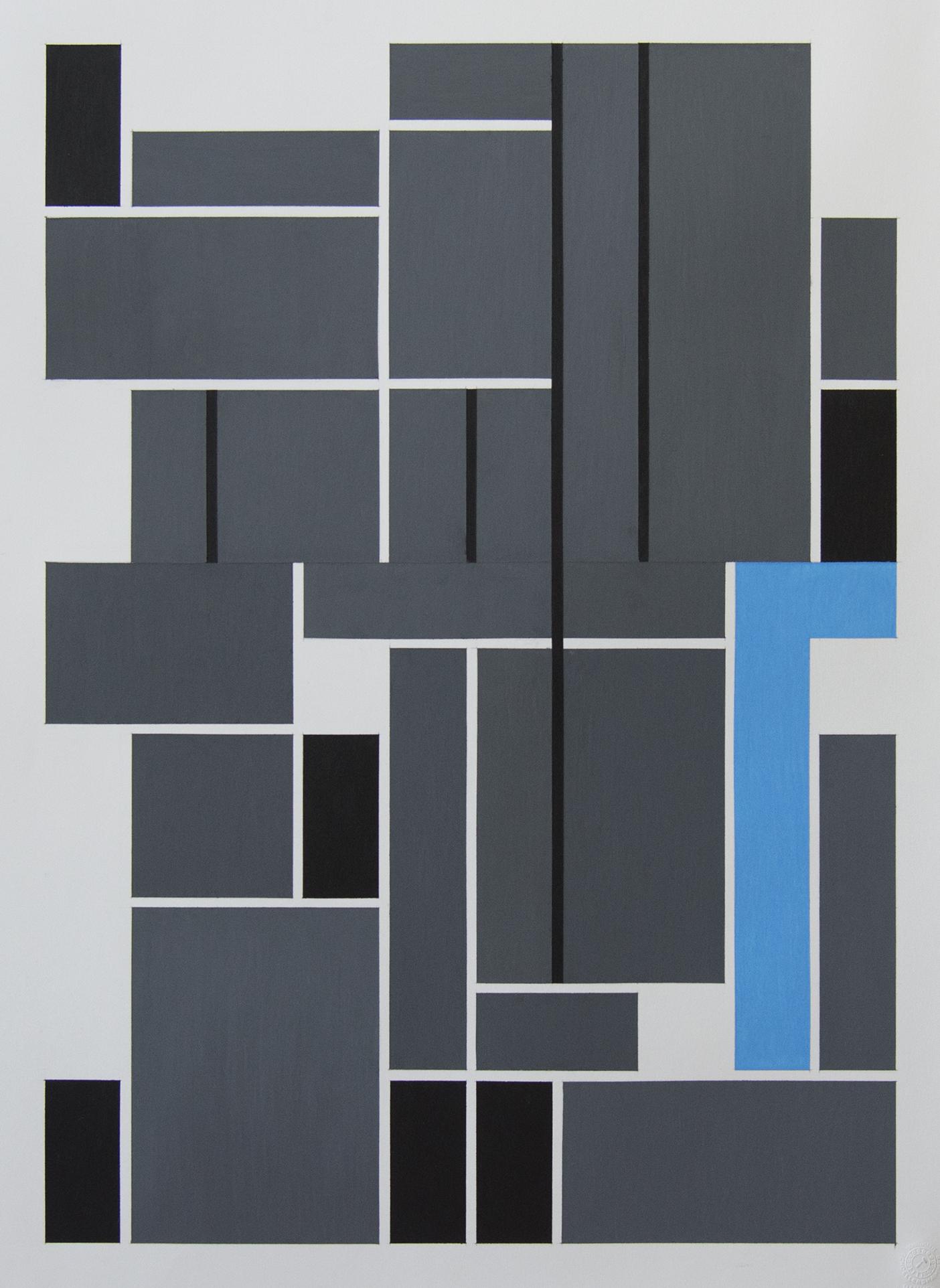 62x46 cm Blyant og oljepastell på papir 2018