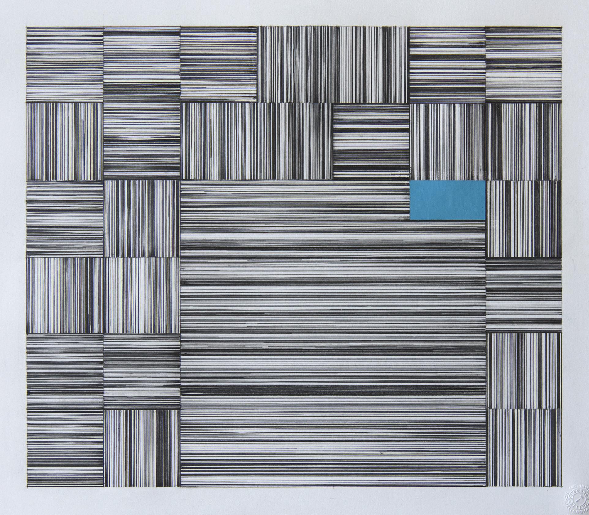 36x41 cm Blyant og oljepastell på papir 2018