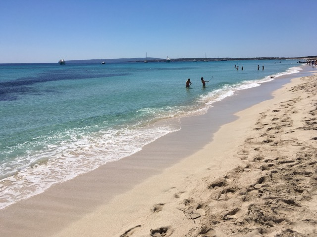 Formentera's crystal clear waters