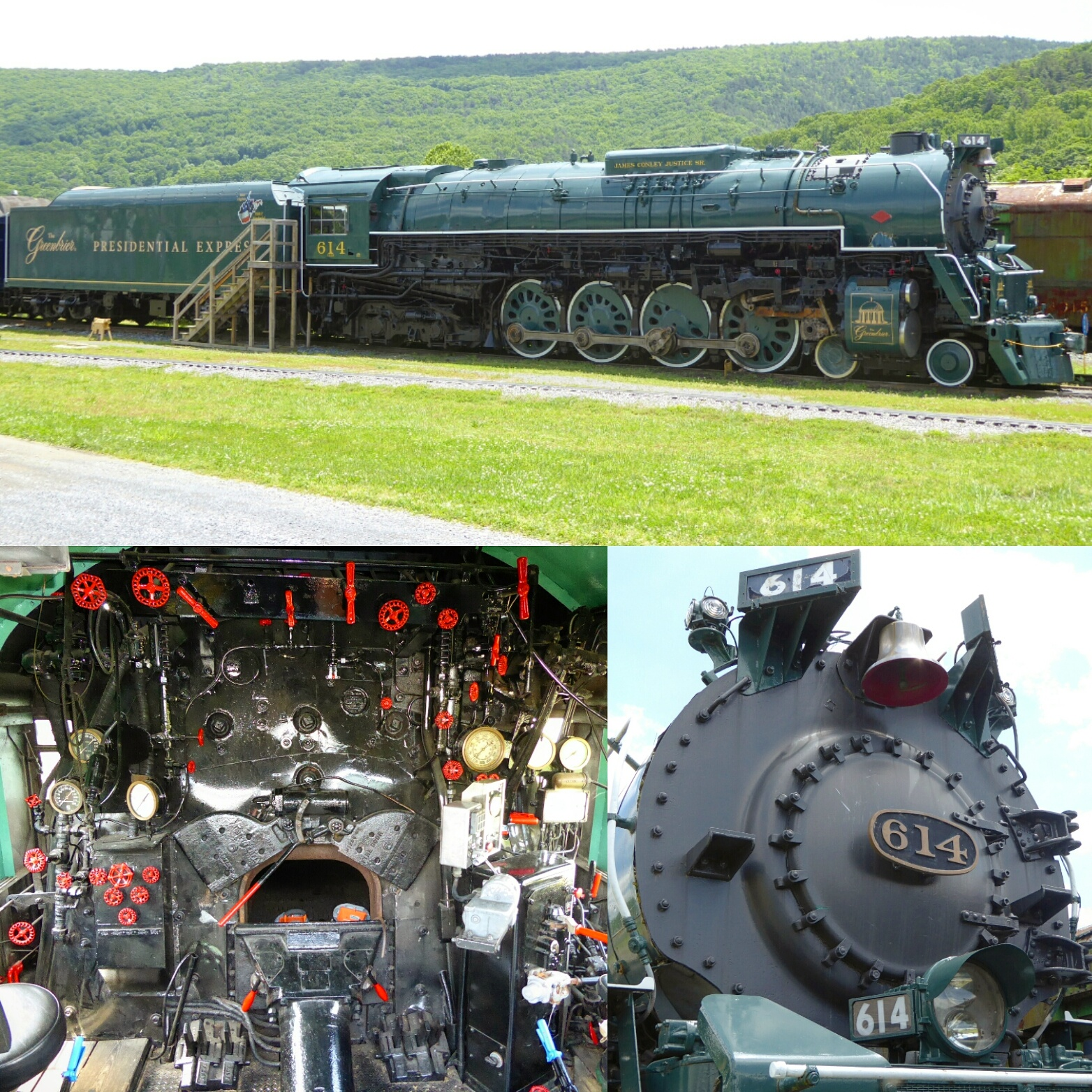 C&O #614, the crown jewel of the Chesapeake & Ohio Heritage Center in Clifton Forge, VA.