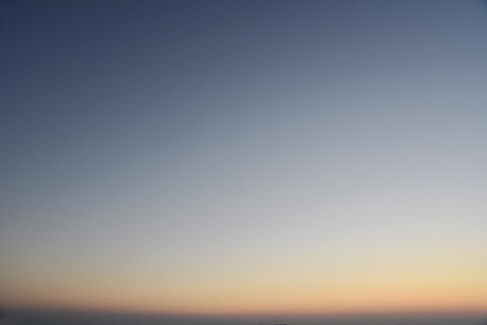 Sorbet sky in the caldera in Santorini.