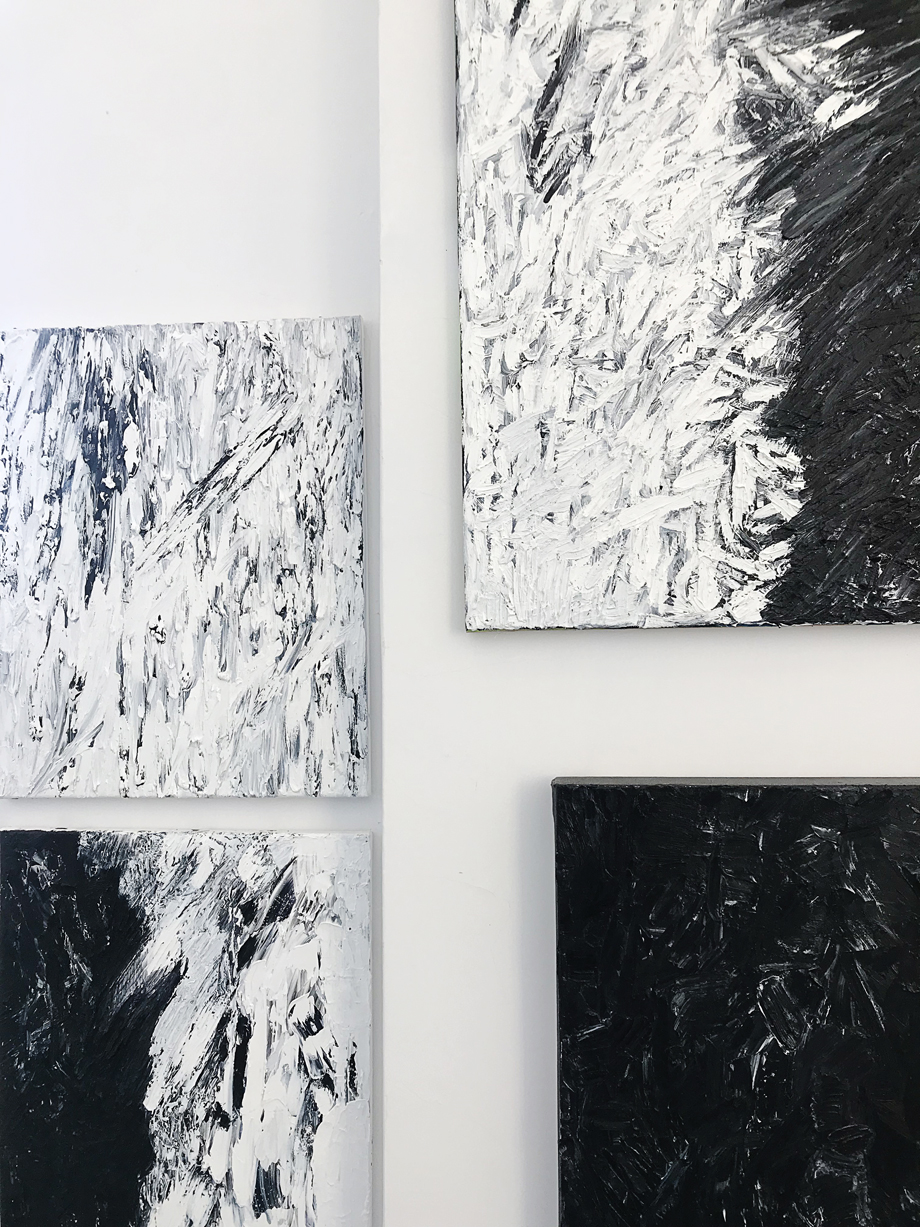 Part of the series up on my studio wall.