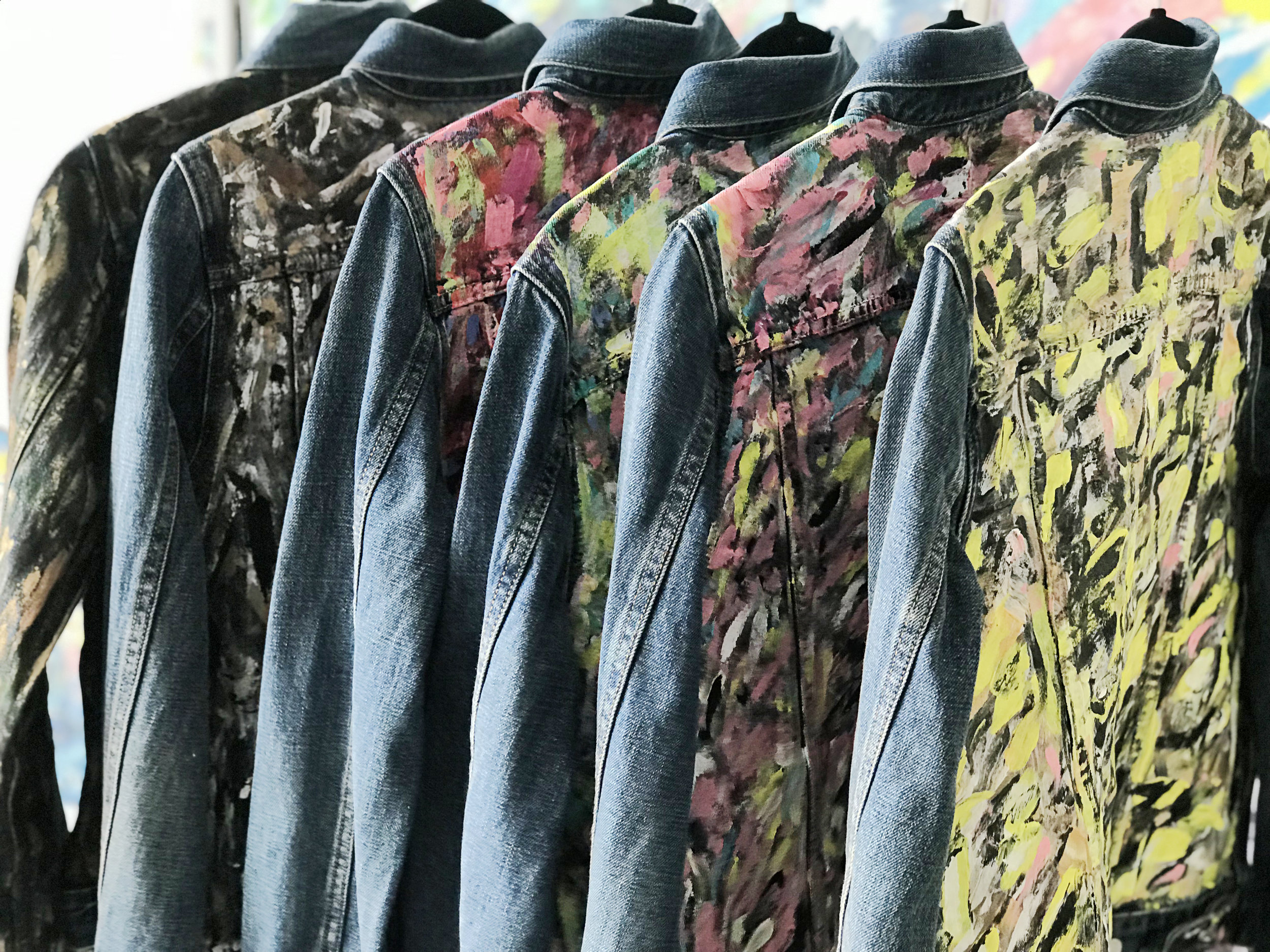 Hand Painted Denim Jackets   One-of-a-Kind Hand-Painted Apparel by Monica Shulman     Explore Now